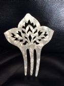 1950s Lucite Mother of Pearl effect Hair Comb (sold)